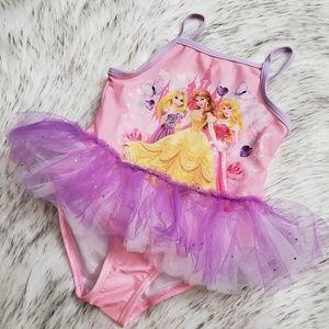 Disney Princesss One Piece Tutu Swimsuit 2T